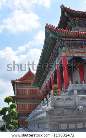 Chinese temple. - stock photo