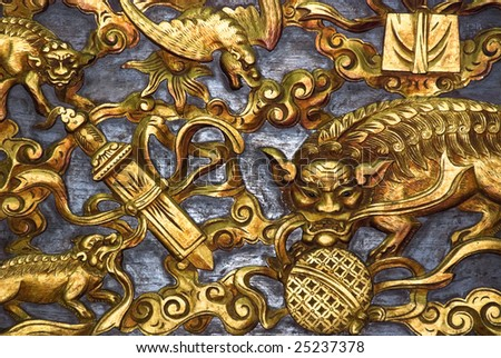 chinese temple altar - stock photo