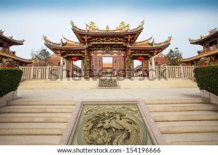 Chinese Temple in Macau - stock photo