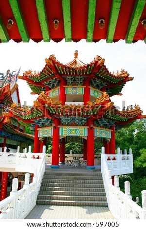 Chinese Temple in Malaysia. - stock photo