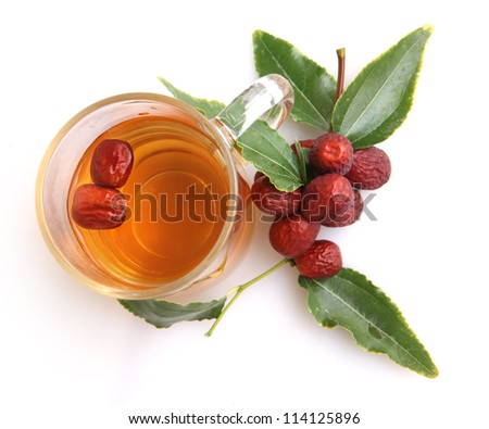 Chinese tradition medical Jujube tea - stock photo