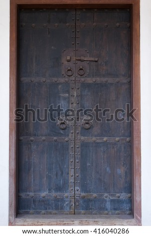 Chinese wooden door.