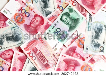 Chinese yuan bank-notes - stock photo