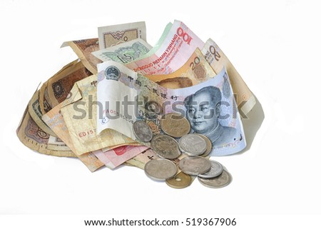 chinese yuan in coins and bills