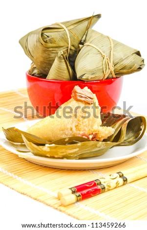 Chinese Zongzi Dragon Boat Festival dumplings - stock photo