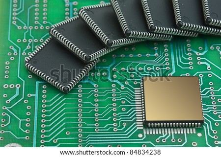 chip on the board computer - stock photo