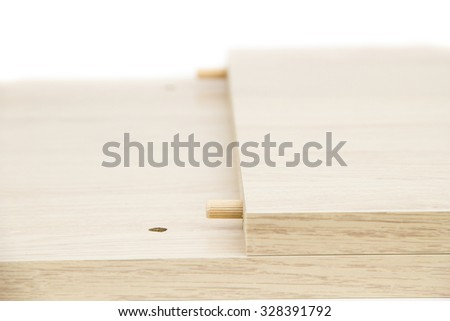Chipboard on the white background - stock photo