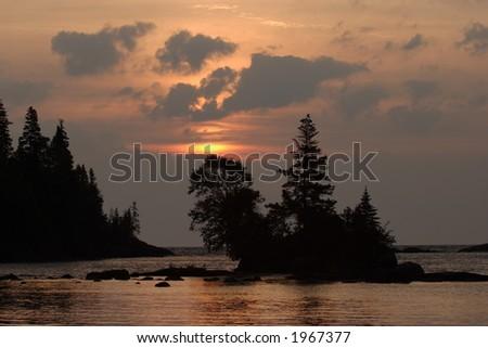 Chippewa Harbor Sunrise - stock photo