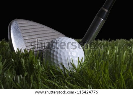 Chipping Golf ball - stock photo