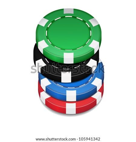 chips casino - stock photo