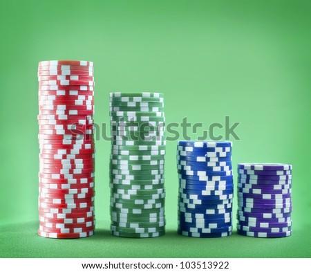 chips for pocker - stock photo