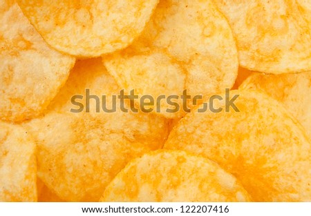 chips many full frame closeup