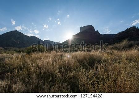 Chisos Basin Sunrise - stock photo