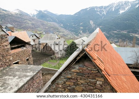 Chisten village in the Pyrenees mountains Huesca Aragon Spain