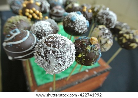 Chockolate lollipops - stock photo