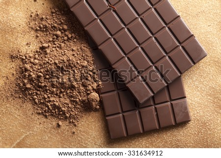 Chocolate and cocoa - stock photo