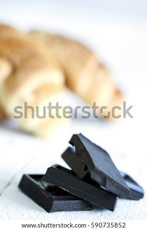 Chocolate and croissant
