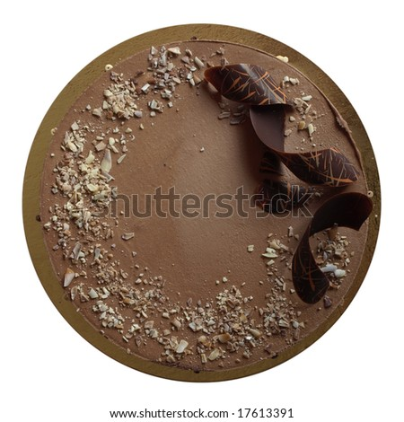 Chocolate and nuts birthday cake