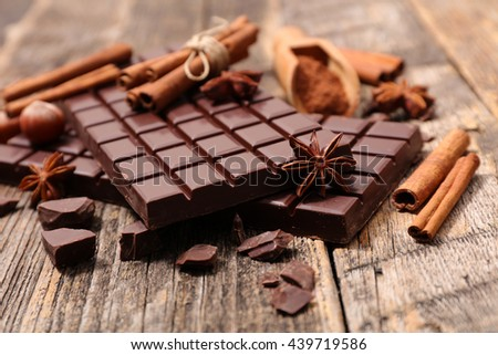 chocolate and spice - stock photo
