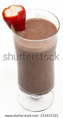 Chocolate and strawberry - stock photo