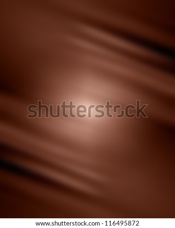 Chocolate background with some soft shades and highlights - stock photo
