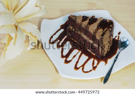 Chocolate Banana Cake, Topped with chocolate.