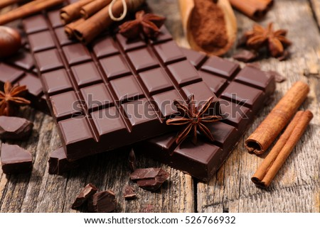 chocolate bar and spice