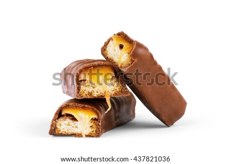 chocolate bar - isolated on white background - stock photo