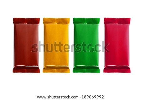 Chocolate Bars In Different Color Wrappers