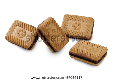 Chocolate Biscuits Close up - stock photo