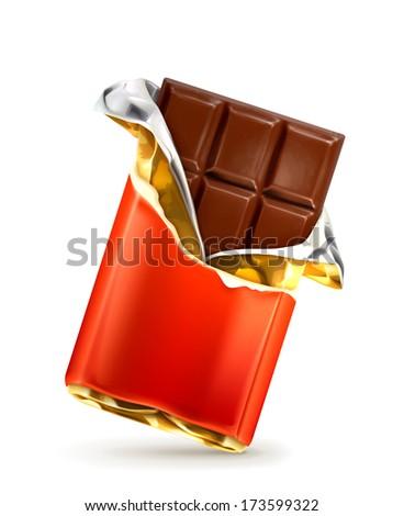 Chocolate, bitmap copy - stock photo