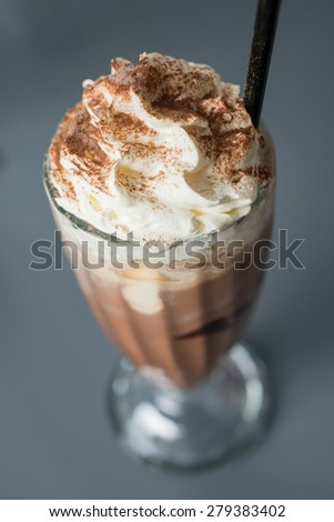 chocolate blended drink recipe - stock photo