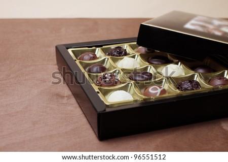 chocolate box - stock photo