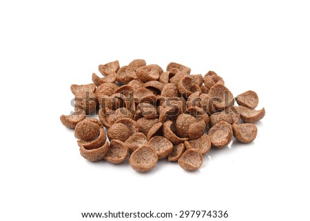 Chocolate breakfast cereal breakfast . - stock photo