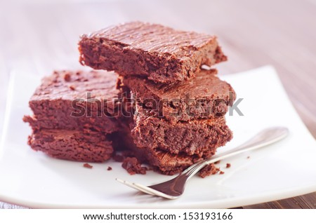 Chocolate Brownies - stock photo