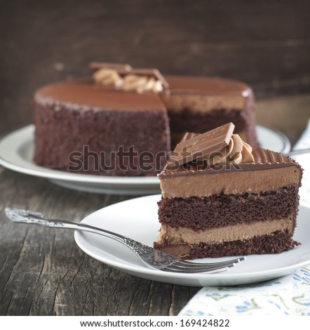 Chocolate cake - stock photo
