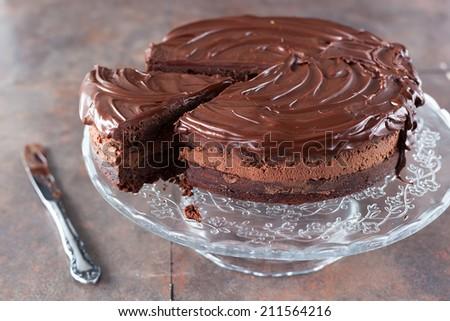 Chocolate cake - stock photo