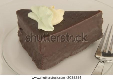 Chocolate cake pastry - stock photo