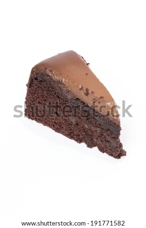 Chocolate Cake with white background