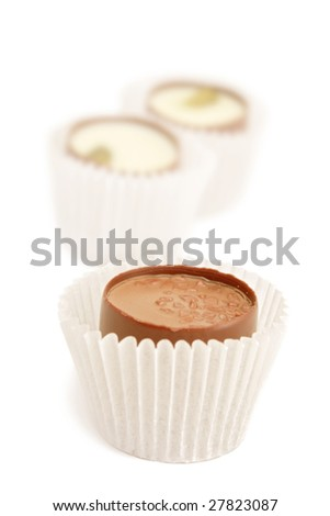 Chocolate candies. - stock photo