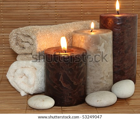 Chocolate candle with stones
