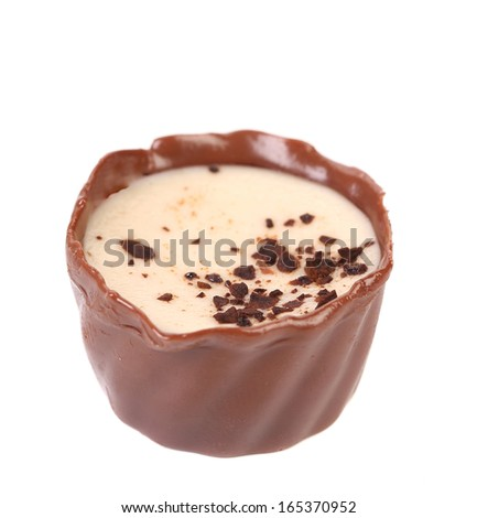 Chocolate candy. Isolated on a white background. - stock photo