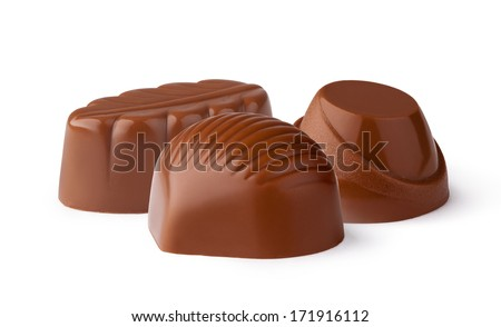 Chocolate candy isolated on white background - stock photo