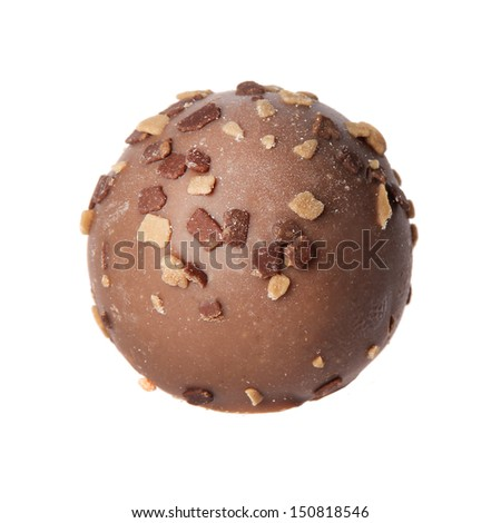 chocolate candy isolated on white background. delicious truffle - stock photo