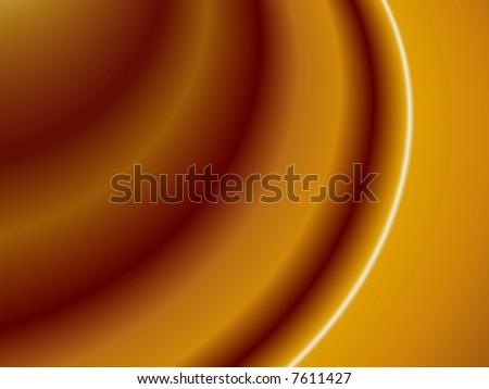 Chocolate caramel ripples - stock photo