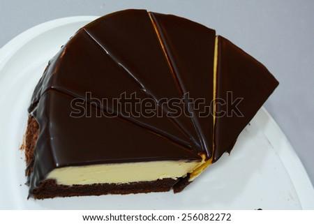 Chocolate cheesecake - stock photo