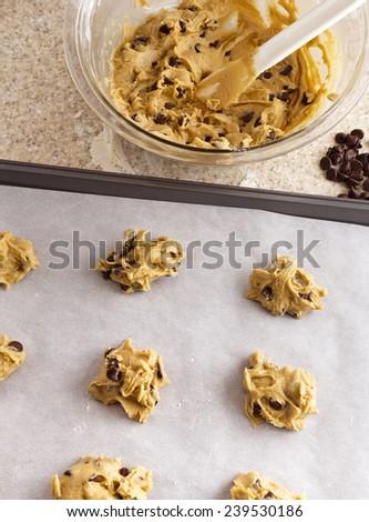 Chocolate Chip Cookie Dough - stock photo