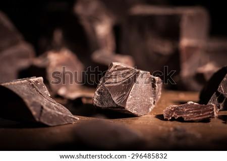 Chocolate, Chocolate Candy, Cocoa. - stock photo