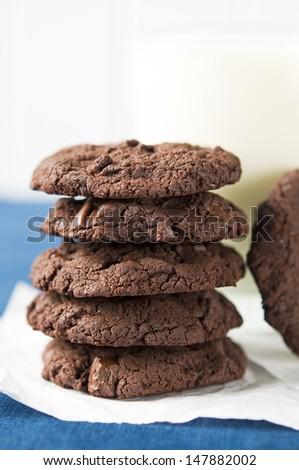 Chocolate cookies - stock photo