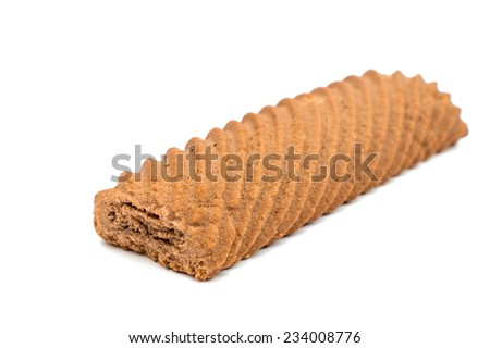 chocolate cookies on a white background - stock photo